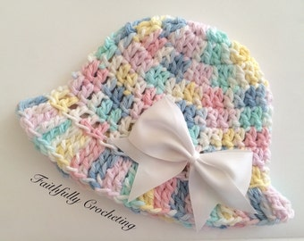 Newborn sun hat.. Cotton hat.. Ready to ship