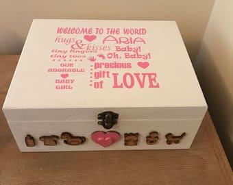 Baby girl / boy keepsake box