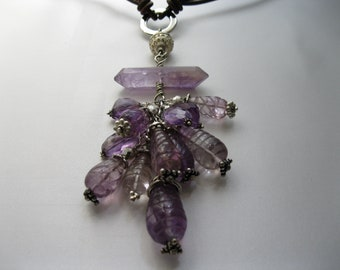 Hand-carved Amethyst Stones.