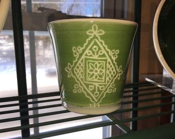 Green Porcelain Juice Cup