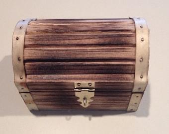 Smokey Treasure Chest Ring Box