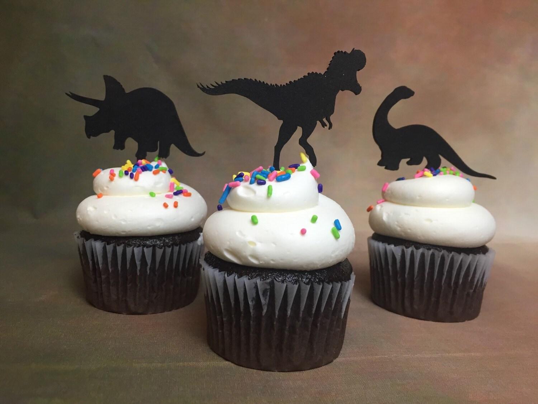 Dinosaur Cupcake Toppers Dinosaur Theme Party Jurassic Park