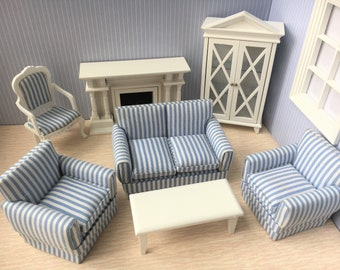 Miniature White Living room set-7pcs