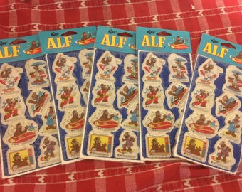 Vintage Lot of 5 Alf 1987 Puffy Stickers