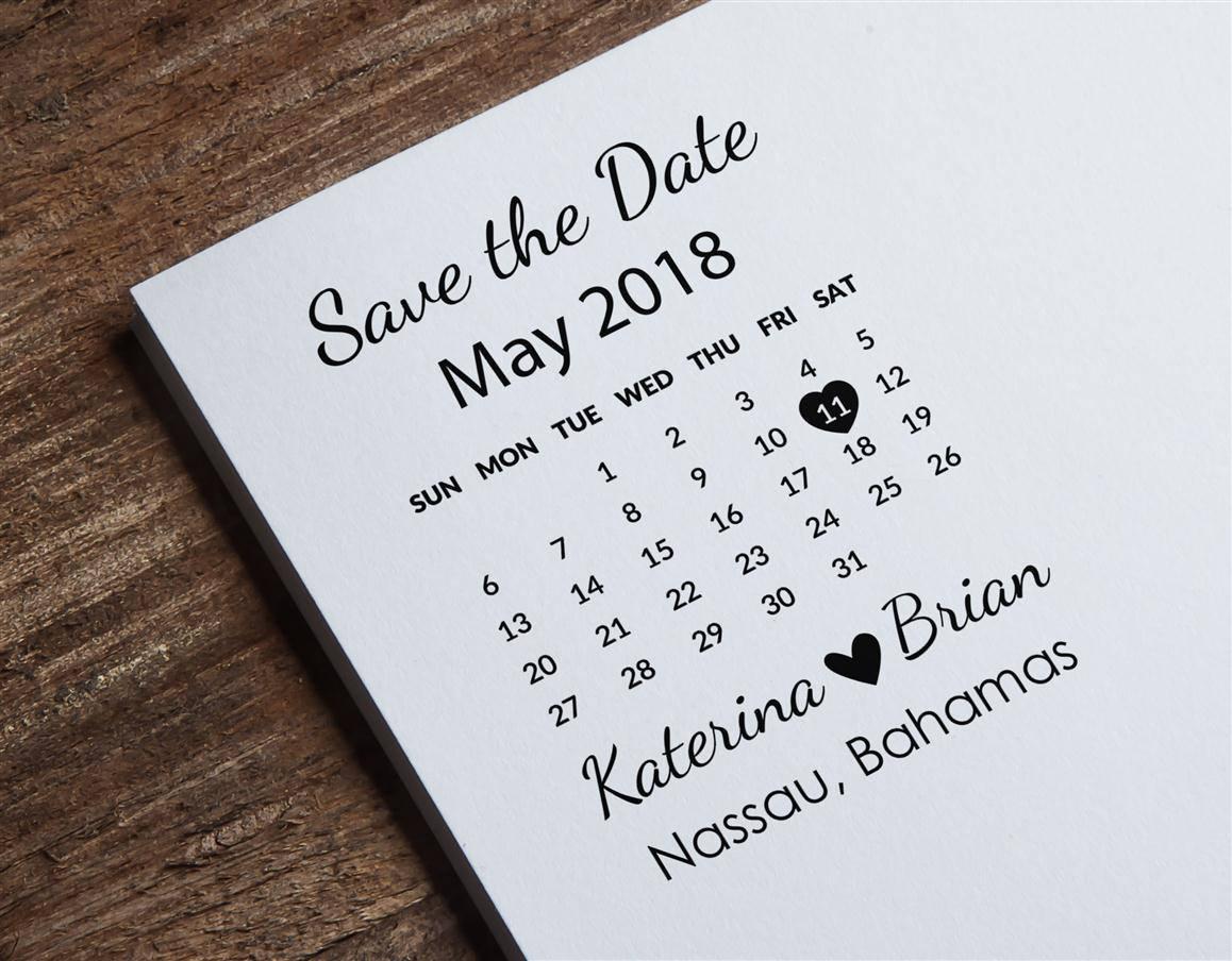 Save the Date Stamp Calendar Stamp Custom Wedding Stamp