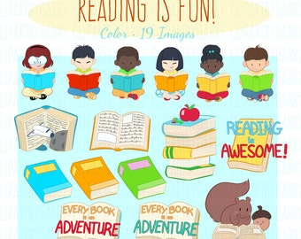 School, Reading and Books Clipart, Clip art