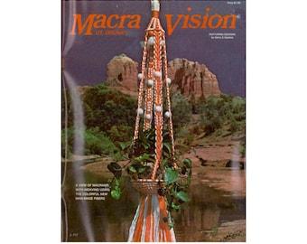Macra-Vision - 16 Vintage Macrame & Weaving Patterns Instant Download PDF 23 pages