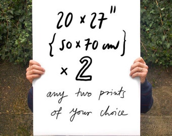 "Your Choice 2 Poster prints  20""x27"" - archival fine art giclée print"