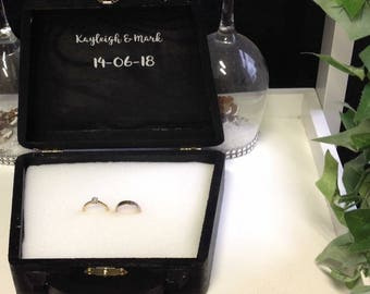 Wedding ring security box and glasses