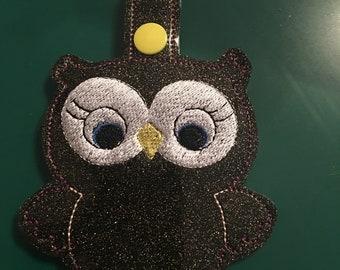 Embroidery Owl Key Fob
