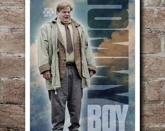 "TOMMY BOY ""Does This Suit Make Me Look Fat"" Movie Quote Poster"