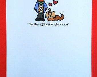 Raj and Cinnamon Love Greeting Card