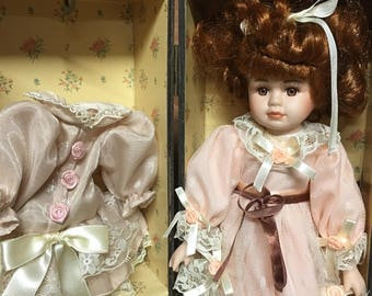 Vintage Baby Doll, Doll Case, Gifts for Girls