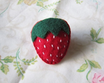 Strawberry Felt Pin