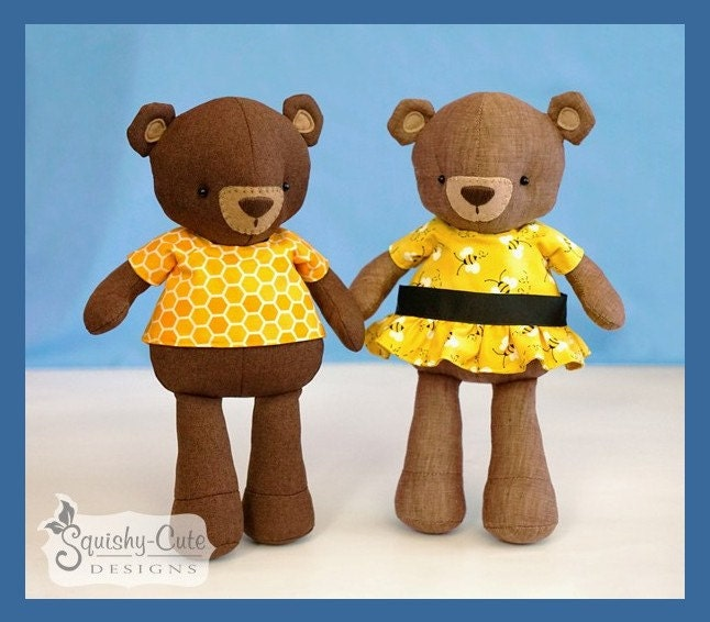 Teddy Bear Sewing Pattern PDF Bear Stuffed Animal Doll