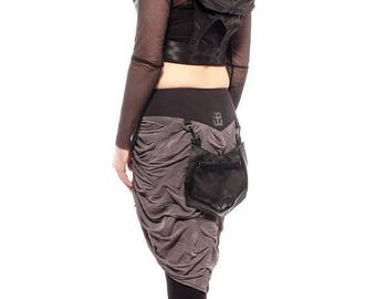 ON SALE Cyberpunk bustle skirt, belt, accesory by Plastik Wrap.