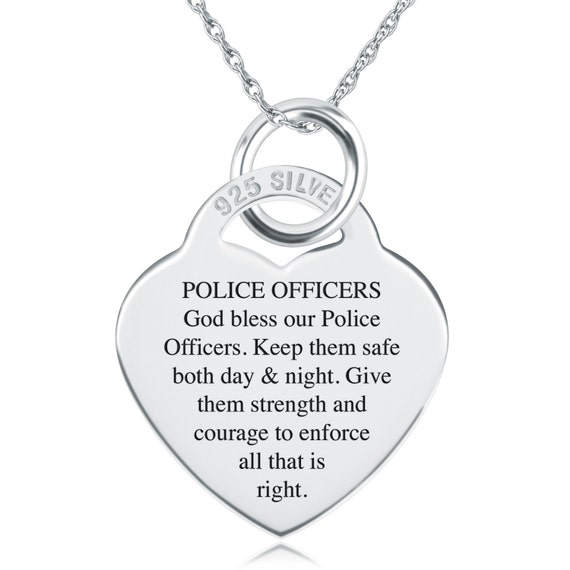 police blue necklace badge