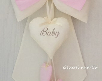 Rose and cream staple birth with customizable name