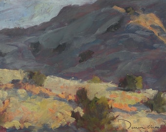 Sunday Afternoon in the Foothills - Albuquerque - New Mexico - Original Oil Landscape Painting