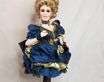 """Jeanne Haunted Doll ~ Victorian Artist Made 22"""" ~ Paranormal ~ Paris ~ Moulin Rouge ~ La Belle Époque"""