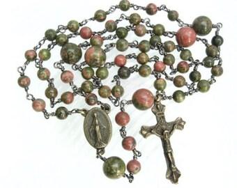 Catholic Rosary, Lutheran Rosary, Prayer Beads, Gift for Him, Female Rosary, Semi-Precious Stones, Handmade Rosary, Unbreakable Rosary