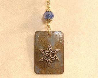 Copper Enameled Pendant - 02603
