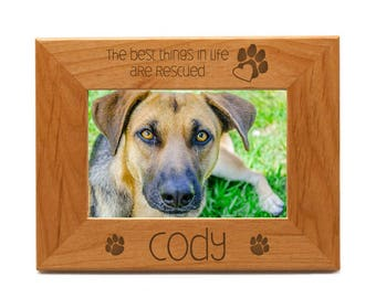 Engraved 4 x 6 Rescue Pet Photo Frame