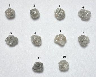 Natural Gray Diamond, Rough Diamond, Raw Diamond, Uncut Diamond, Raw Diamonds, Natural Diamond,  7 x 7.5mm To 7.5 x 9mm