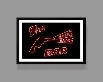 Twin Peaks - TV Movie Poster Print - The Bang Bang Bar - David Lynch Dale Cooper Laura Palmer Cult Classic