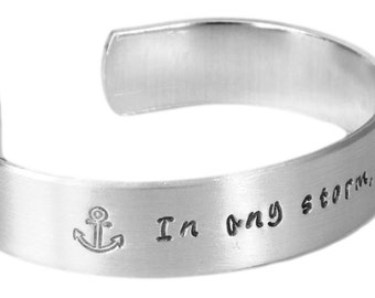 Inspirational Gift | Gifts for Friends | Daughter Gifts | Sister Gifts | In any storm, I refuse to sink Bracelet