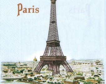2 Paris paper napkins (343)