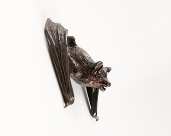Pipistrelle Bat with wings starting to unfold, open edition bronze