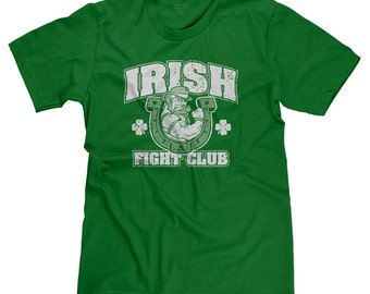 Irish Fight Club St. Patrick's Day St. Patty's Green Beer Lucky Shamrock Funny T-shirt Tee
