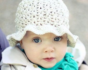Crochet hat PATTERN  - Summer Sun Hat (baby to adult)