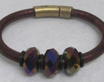 """Regaliz Bracelet ~ With Beads ~ 6 3/4"""""""