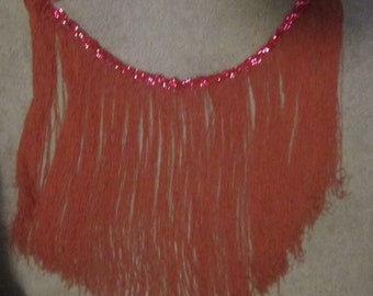 Vintage Flapper Style Fringe Material With Sequins