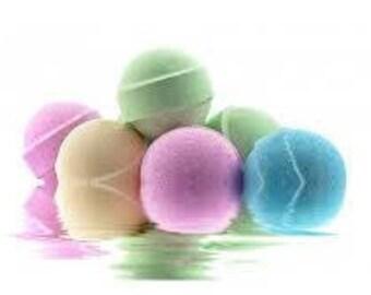 Colorful Organic Bath Bombs