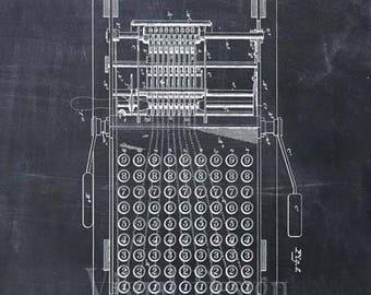 Patent Print of an Adding Machine - Patent Art Print - Patent Poster - Calculator - Calculating Machine - Accountant Gift