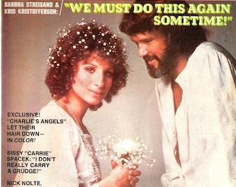 Magazine, 1977, Rona Barrett's Hollywood, Vintage, Magazine, Barbra Streisand, Kris Kristofferson, Sissy Spacek, Nick Nolte, John Travolta