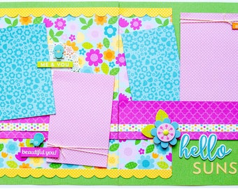 Hello Sunshine 2 Page Scrapbook Page Kit