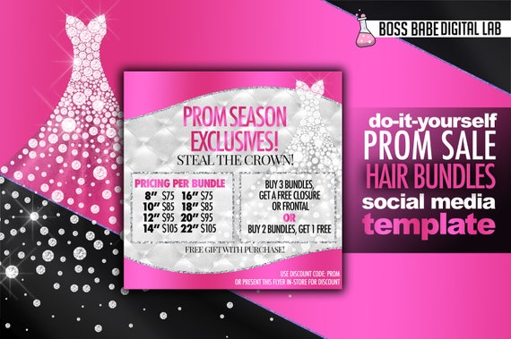 Prom sale flyer hair bundles prom flyer editable prom flyer prom sale flyer hair bundles prom flyer editable prom flyer premade hair bundle prom sale flyer solutioingenieria Image collections