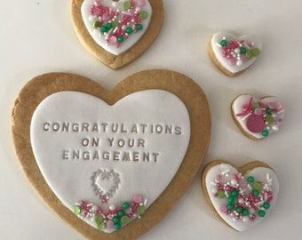 Engagement Gift - personalised biscuits