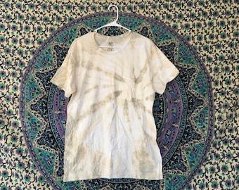 MEN'S MEDIUM Yellow and Olive Festival | Rave Tie-Dye T-Shirt