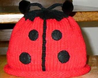 Hand Knitted Ladybug Hat