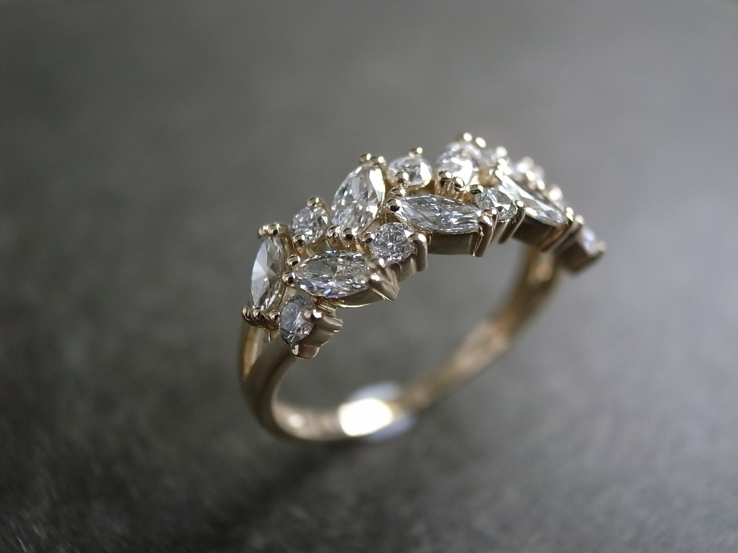 zoom - Marquise Wedding Rings
