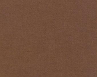 Earth Kona Cotton, Brown Fabric, Robert Kaufman Fabrics, Half Yard