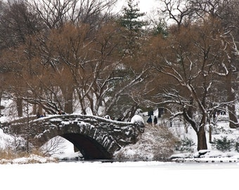 Central Park Photo - Gapstow Bridge during Winter, New York City Photography, Wall Art