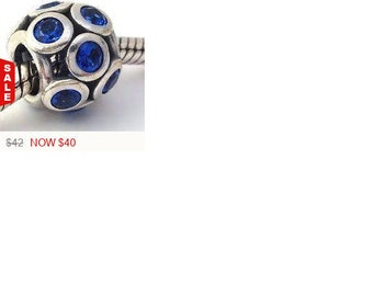 Sale -  Authentic Pandora Whimsical lights, swiss blue crystal Retired