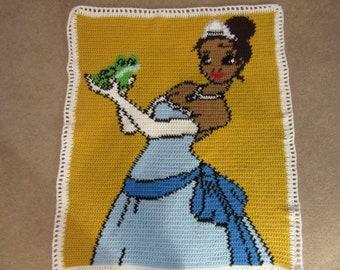 Princess and frog blanket