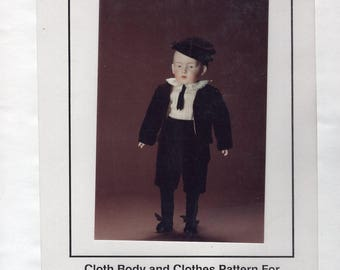 "FREE US SHIP Bell Ceramics Doll Pattern 1980's 1988  Heubach Boy Cloths 13"" Mold MD2078 New Old Store Stock Sewing Pattern"